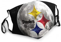 Pittsburgh Steelers Face Mask Mouth Cover Scarf Bandanas Neck Gaiter - Reusable Printed Graphic Cool Festivals and Outdoors: Clothing