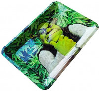 Metal Rolling Tray Durable Art Scroll Tray New Design Funny Green SK: Health & Personal Care
