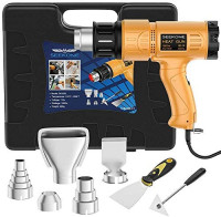 Heat Gun, SEEKONE 1800W Heat Gun Kit With Carry Case, Variable Temperature Control with 2-Temp Settings 4 Nozzles 122℉~1202℉(50℃- 650℃)with Overload Protection for Crafts, Shrinking PVC