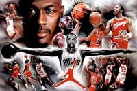 Buyartforless Michael Jordan - Collage Open Arms 36x24 Sports Art Print Poster Superstar Legend: Posters & Prints