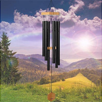 WIND CHIMES FOR PEOPLE WHO LIKE THEIR NEIGHBORS, Soothing Melodic Tones & Solidly Constructed Bamboo/Aluminum Chime, Great as a Quality Gift or to keep for Your own Patio, Porch, Garden, or Backyard. : Garden & Outdoor