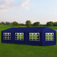 Tidyard Outdoor Party Tent with 8 Walls 10' x 30' Rust-Resistant Lightweight for Shows Weddings Parties Barbecues Blue : Garden & Outdoor