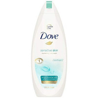 Dove Sensitive Skin Body Wash, 12 oz (Pack of 4) : Beauty