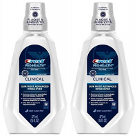 Crest Pro-Health Clinical CPC Antigingivitis/Antiplaque Oral Rinse Deep Clean Mint, Clean Mint 473 ml (Pack of 2) : Beauty