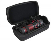 Hermitshell Hard Travel Case for HyperX QuadCast - USB Condenser Gaming Microphone (Black): Home Audio & Theater