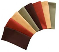 Natco Fall Cloth Napkins, Set of 8 in Warm Harvest Colors of Brown, Green, Gold and Rust for Thanksgiving and Fall Table Decorating, Reusable Fabric: Home & Kitchen