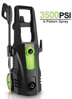 TEANDE 3500 Max PSI Electric Pressure Washer, 2.6GPM 1800W High Pressure Cleaner Machine with (4) Nozzle Adapter, Spray Gunand, Rolling Wheels and Soap Tank Green : Garden & Outdoor