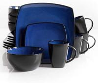 The Boutique Beautiful Soho Lounge 16 Piece Blue Dinnerware Set: Dinnerware Sets