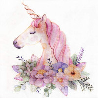 Colored Paper Napkins, 20 Count Shabby Chic Napkins for Wedding, Dinner Tea Party Shower (Unicorn): Health & Personal Care