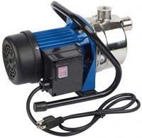 EXTRAUP Stainless Steel Electronic Portable Shallow Well Pump Booster Pump Lawn Sprinkling Pump Home Garden Water Pump (1.6HP)